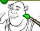 Yeşil dev adam Şrek Boyama ile yeni bir oyunun içinde arkadaşları ile birlikt...
