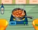 Uzman aşçı omlet oyununda, aşçımız sabah kahvaltısı için işbaşında. Otelde aş...