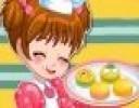 Küçük bir kız ailesi işteyken annesi ve babasına lezzetli bir makaron tatlısı yapmaya k...