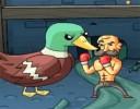 Zombi Ördek, klasik oyundan farklı olarak, karanlık ormandan kaçmaya çalışan ...