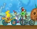 Sünger Bob Bisiklet Yarışı Oyunu sünger bob oyunlarını sevenler için çok eğle...